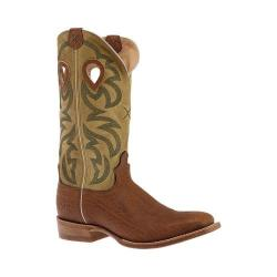 Men's Twisted X Boots MRSL035 Ruff Stock Cowboy Boot Whiskey Bull Hide/Olive