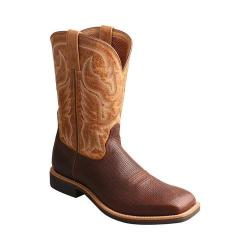 Men's Twisted X Boots MTH0021 Top Hand Cowboy Boot Tawny/Tan Leather