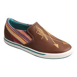 Women's Twisted X Boots WCA0020 Casual Slip-On Sneaker Brown/Purple Multi