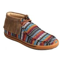 Women's Twisted X Boots WCA0021 Casual Fringe Bootie Serape Fringe Canvas/Leather