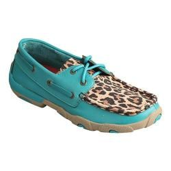 Women's Twisted X Boots WDM0058 Driving Moc Turquoise/Leopard