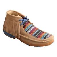 Women's Twisted X Boots WDM0064 Driving Moc Fringe Bootie Serape Fringe Leather/Canvas