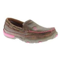 Women's Twisted X Boots WDMS003 Driving Moc Slip On Bomber/Pink