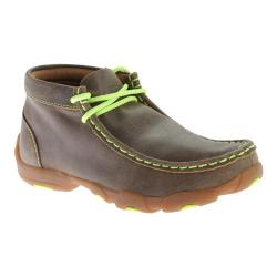 Children's Twisted X Boots YDM0011 Cowkid's Driving Moc Bomber/Neon Yellow