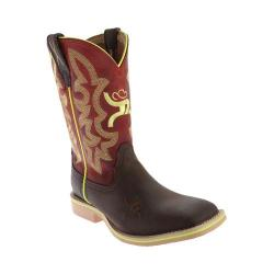 Children's Twisted X Boots YHY0005 Cowkid's Hooey Cowboy Boot Crazy Horse/Red Leather