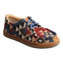 Children's Twisted X Boots YHYC001 Moc Toe Shoe Graphic Pattern Canvas