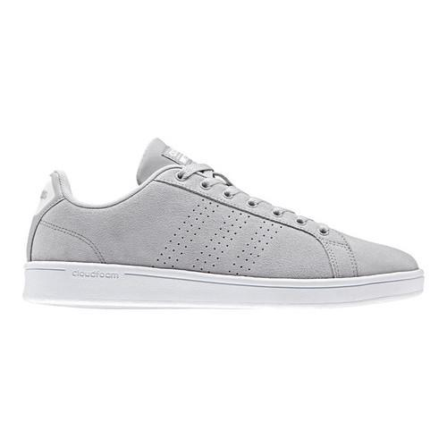 67766e6f5607e Shop Men s adidas NEO Cloudfoam Advantage Clean Court Shoe Grey Two  F17 Grey Two F17 Solar Red - Free Shipping Today - Overstock - 17042007