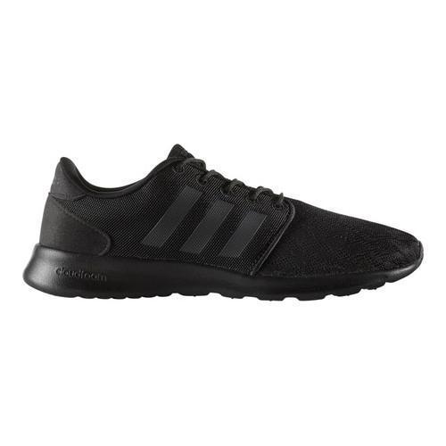promo code e0b08 4d725 Shop Women s adidas NEO Cloudfoam QT Racer Sneaker Core Black Core Black FTWR  White - Free Shipping Today - Overstock - 17042012