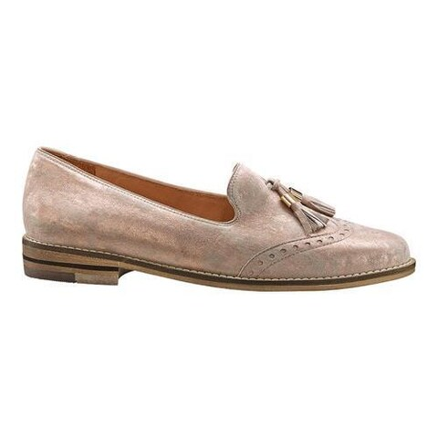 Women's ara Kay 31252 Tassel Loafer Rosegold Leather