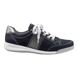 Women's ara Rickie 34429 Sneaker Blue Nubuck