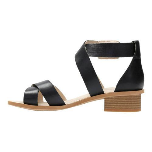e79c810d8a010b ... Thumbnail Women  x27 s Clarks Sandcastle Ray Strappy Sandal Black  Leather