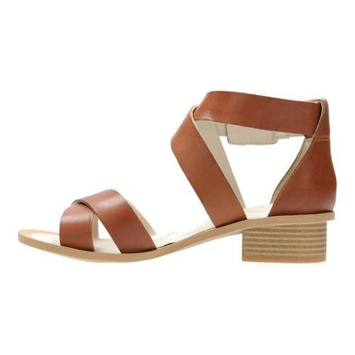 Clarks Sandcastle Ray Strappy Sandal Tan Leather Women