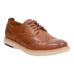 Men's Clarks Flexton Wing Tip Oxford Tan Leather
