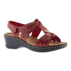 Women's Clarks Lexi Walnut Sandal Red Cow Full Grain Leather
