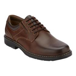 Men's Dockers Norwich Plain Toe Derby Cognac Waxy Burnished Full Grain