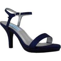 Women's Dyeables Aurora Ankle-Strap Sandal Navy Glitter