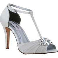 Women's Dyeables Everly T-Strap Sandal White Satin