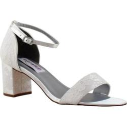 Women's Dyeables Summer Ankle-Strap Sandal White Satin/Lace