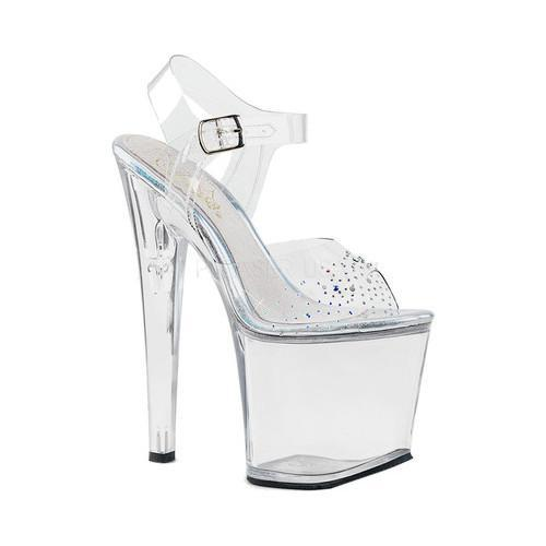 45c54e15f Women s Pleaser Taboo 708SD Ankle-Strap Sandal Clear PVC Clear - Free  Shipping Today - Overstock - 23319023