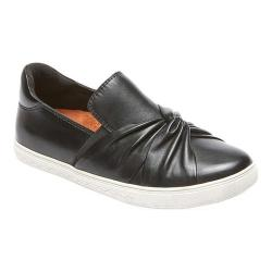 Women's Rockport Cobb Hill Willa Bow Slip-On Black Leather