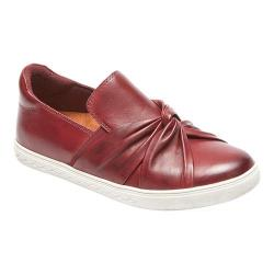 Women's Rockport Cobb Hill Willa Bow Slip-On Wine Leather