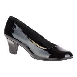 Women's Soft Style Gail Pump Black Patent Polyurethane
