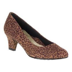 Women's Soft Style Gail Pump Tan Leopard Microfiber