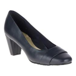 Women's Soft Style Mabry Pump Navy Synthetic Kid