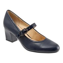 Women's Trotters Candice Mary Jane Navy Smooth Leather/Patent