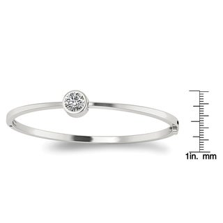 True Light 14 Karat White Gold Moissanite Bangle
