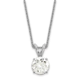 round moissaniteco stone three pendants with cable moissanite pendant com chain fine