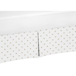 Sweet Jojo Designs Gold and White Star Celestial Baby Girl Collection Crib Bed Skirt