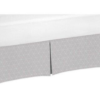 Sweet Jojo Designs Grey Triangle Mountains Baby Boy or Girl Unisex Collection Crib Bed Skirt