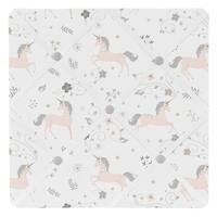 Sweet Jojo Designs Pink, Grey and Gold Unicorn Collection 13-inch Fabric Memory Photo Bulletin Board