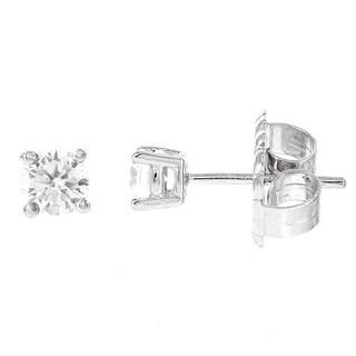 H Star Sterling Silver Diamagem Stud Earring