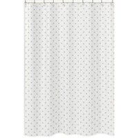 Sweet Jojo Designs Gold and White Star Celestial Collection Bathroom Fabric Bath Shower Curtain