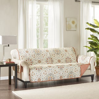 Madison Park Maya Spice Reversible Printed Sofa Protector