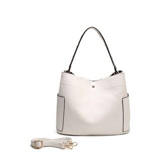 MKF Collection by Mia K. Farrow Sarahi Hobo Bag (Option: White)
