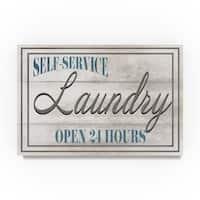 Lightboxjournal 'Mudroom Laundry' Canvas Art