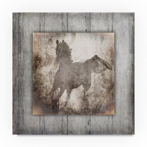 Lightboxjournal 'Gypsy Horse Center Frame.' Canvas Art