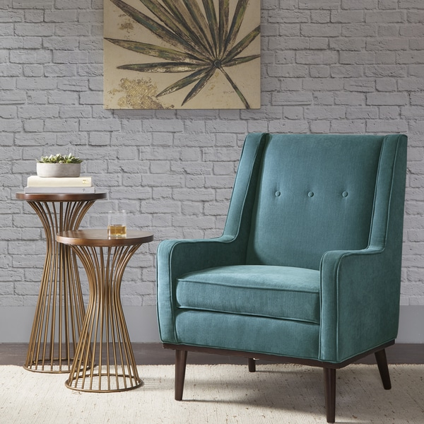 Shop The Curated Nomad Montgomery Blue Fabric Accent Chair