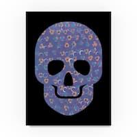 Summer Tali Hilty 'Purple Skull' Canvas Art