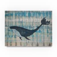 Zwart 'Black Whale' Canvas Art