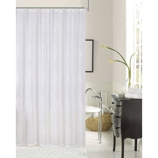 Dainty Home Elizabeth Embroidered Fabric Shower Curtain