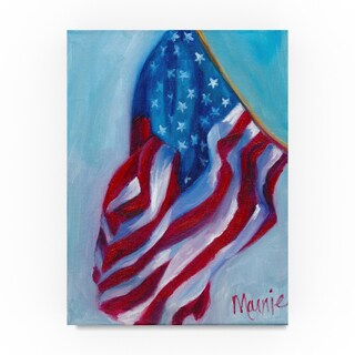 Marnie Bourque 'Long may she wave' Canvas Art