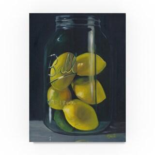 Marnie Bourque 'Lemons' Canvas Art