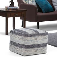 WYNDENHALL  Portia Patterned Square Pouf