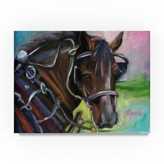 Marnie Bourque 'Charleston Working Horse' Canvas Art