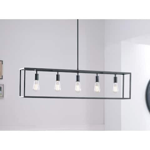 Design Craft Bloc Graphite 5-Light Island Ceiling Light