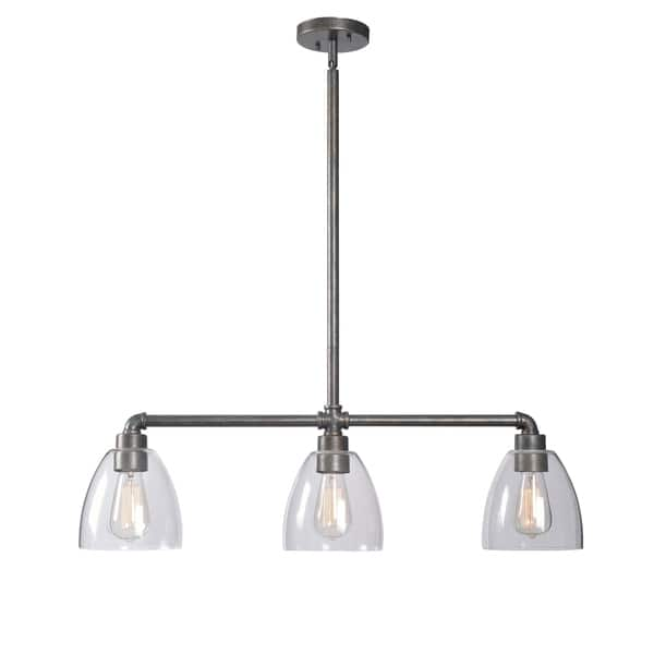 Piper Vintage Metal 3 Light Island Ceiling